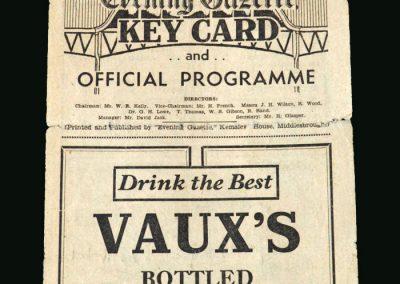 Stoke v Middlesbrough 07.09.1946