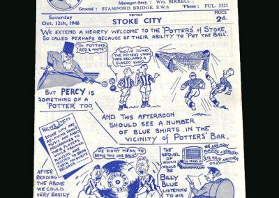 Stoke v Chelsea 12.10.1946