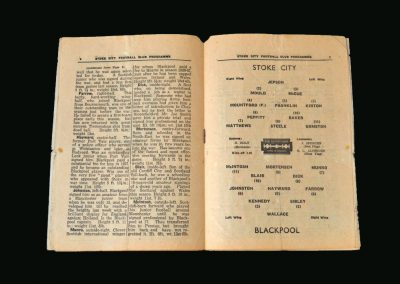 Stoke v Blackpool 07.12.1946
