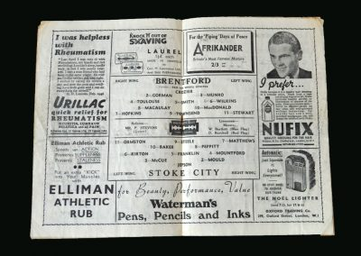 Stoke v Brentford 14.12.1946