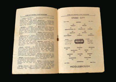 Stoke v Middlesbrough 04.01.1947