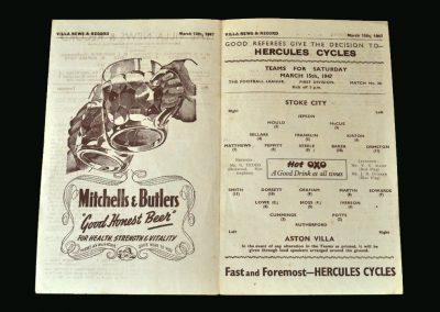 Stoke v Aston Villa 15.03.1947 (match abandoned)