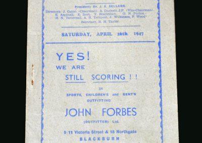 Stoke v Blackburn 26.04.1947