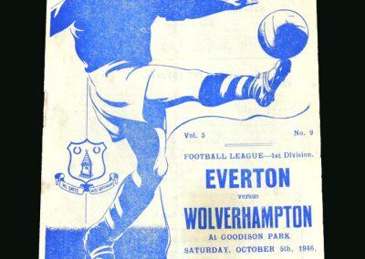 Wolves v Everton 05.10.1946