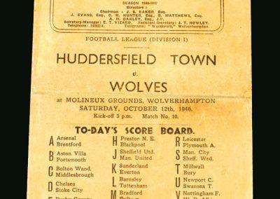Wolves v Huddersfield 12.10.1946