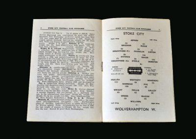 Wolves v Stoke 26.10.1946