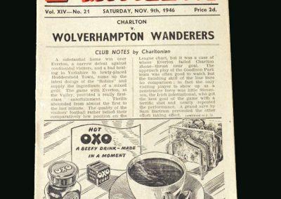 Wolves v Charlton 09.11.1946