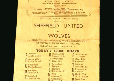 Wolves v Sheff Utd 16.11.1946