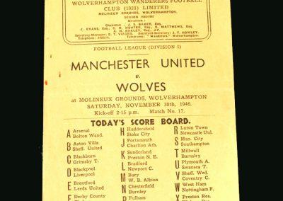 Wolves v Man Utd 30.11.1946