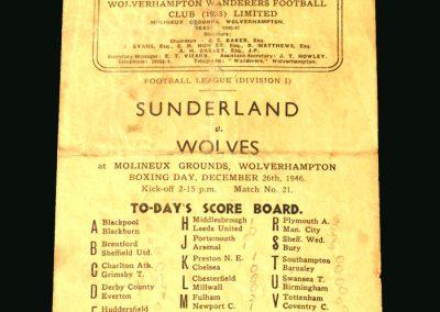 Wolves v Sunderland 26.12.1946