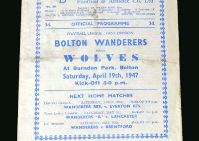 Wolves v Bolton 19.04.1947