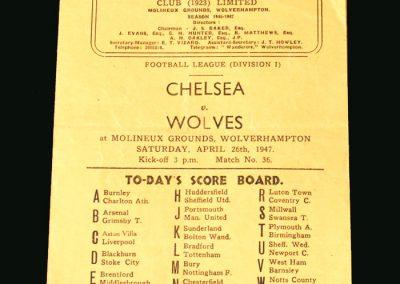 Wolves v Chelsea 26.04.1947