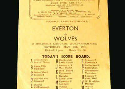 Wolves v Everton 10.05.1947
