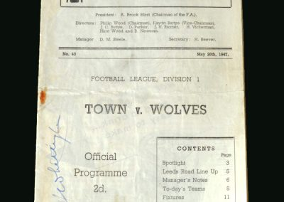Wolves v Huddersfield 26.05.1947
