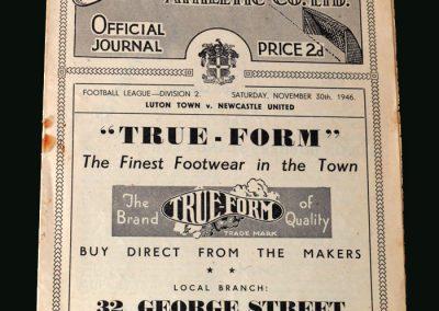 Newcastle v Luton 30.11.1946