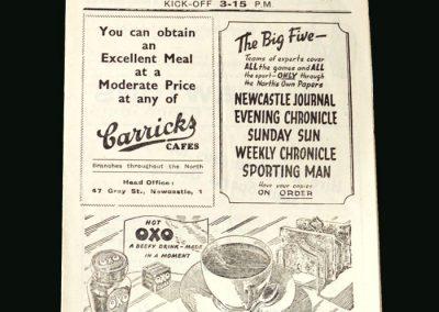 Newcastle v Bradford 22.02.1947