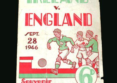 Northern Ireland v England 28.09.1946