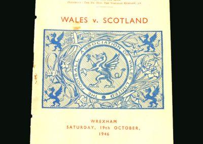 Wales v Scotland 19.10.1946