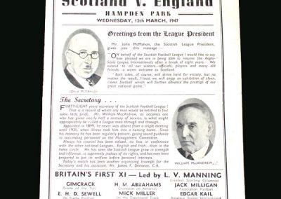 Scottish League v English League 12.03.1947