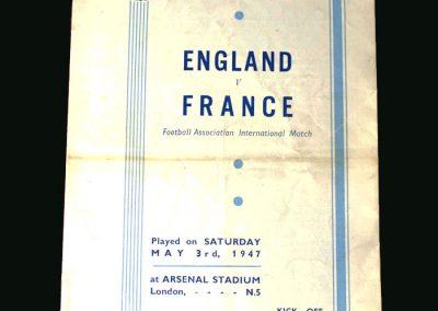 England v France 03.05.1947
