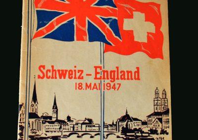 Switzerland v England 18.05.1947