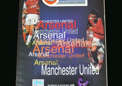 Man Utd v Arsenal 09.08.98 (Charity Shield)