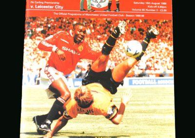 Man Utd v Leicester 15.08.98