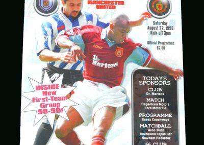 Man Utd v West Ham 22.08.98