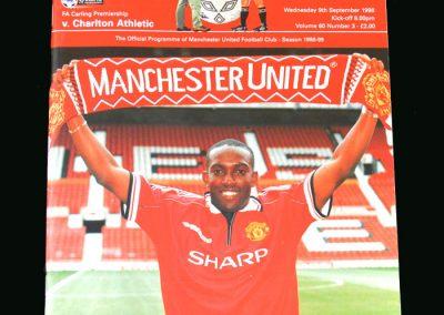 Man Utd v Charlton 09.09.98