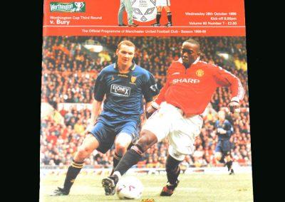 Man Utd v Bury 28.10.98 (League Cup Round 3)