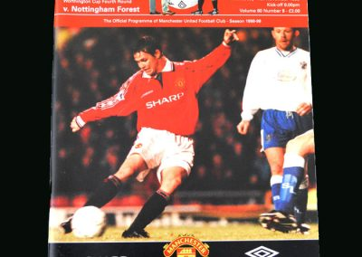 Man Utd v Notts Forest 11.11.98 (League Cup Round 4)