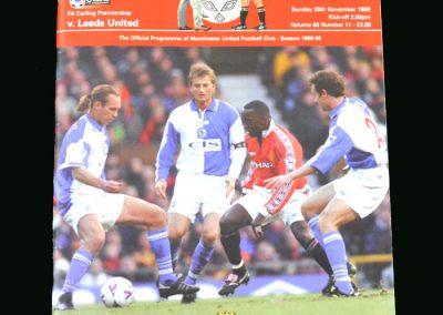 Man Utd v Leeds 29.11.98
