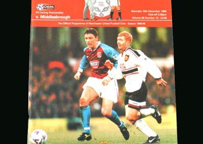 Man Utd v Middlesbrough 19.12.98