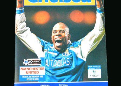 Man Utd v Chelsea 29.12.98