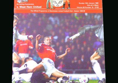 Man Utd v West Ham 10.01.99