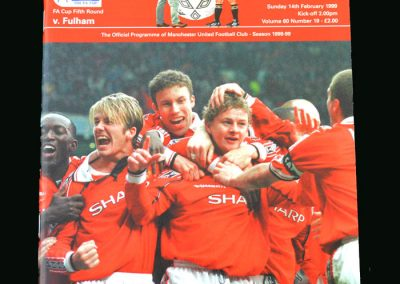 Man Utd v Fulham 14.02.99 (FA Cup Round 5)