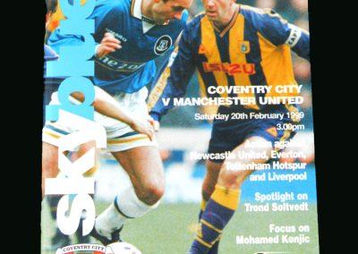 Man Utd v Coventry 20.02.99