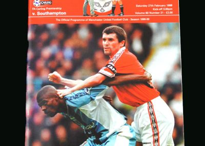 Man Utd v Southampton 27.02.99