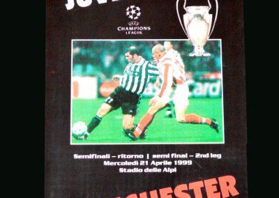 Man Utd v Juventus 21.04.99 (Champions League Semi Final 2nd Round)