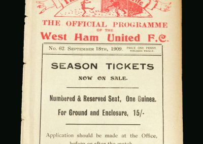 West Ham Reserves v Coventry Reserves 18.09.1909
