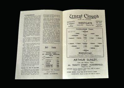 Huddersfield v Middlesbrough 31.10.1942