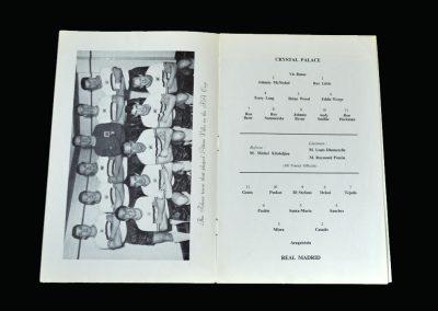 Crystal Palace v Real Madrid 10.04.1962 (Friendly)