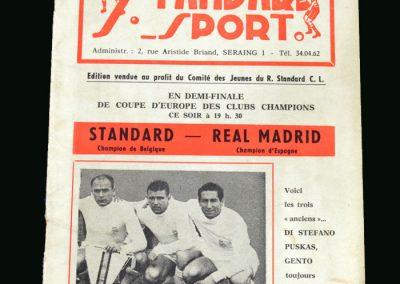 Standard Liege v Real Madrid 12.04.1962 (European Cup Semi Final)