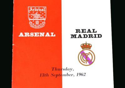 Arsenal v Real Madrid 13.09.1962 (Friendly)