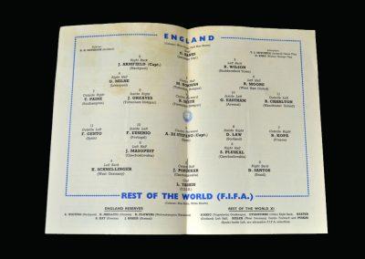 England v Rest of the World 23.10.1963