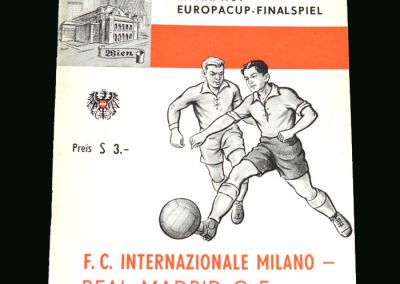 Real Madrid v Inter Milan 27.05.1964 (European Cup Final) - 37 years old and the leading scorer in the tournament but lost 3-1 in the final