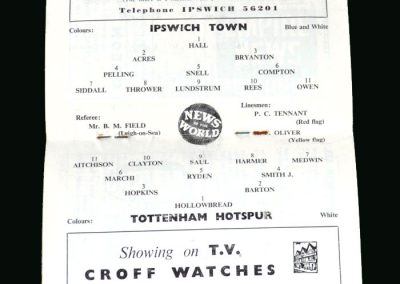 Spurs v Ipswich 08.10.1960