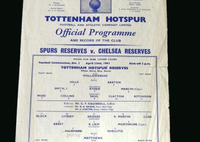 Spurs v Chelsea 22.04.1961