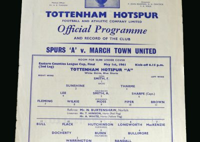 Spurs v March Town 01.05.1961