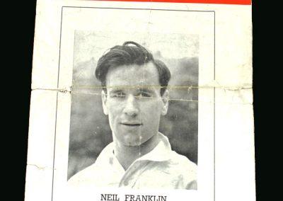England v Ireland 21.09.1949